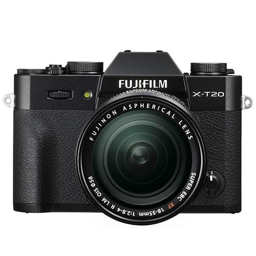 X-T20 Mirrorless Camera in Black + 18-55mm Lens Product Image (Secondary Image 1)