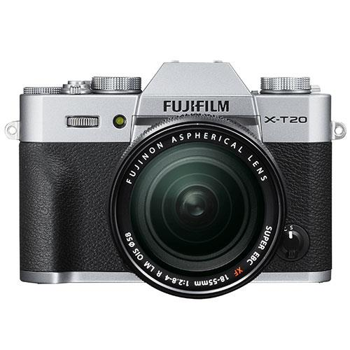 X-T20 Mirrorless Camera in Silver + 18-55mm Lens Product Image (Secondary Image 1)