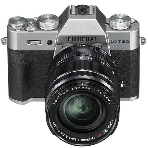 X-T20 Mirrorless Camera in Silver + 18-55mm Lens Product Image (Secondary Image 2)