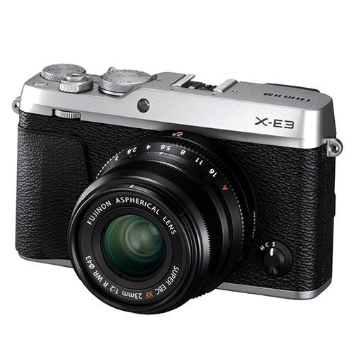 X-E3 Mirrorless Camera in Silver with XF23mm f/2 R WR Lens  Product Image (Primary)