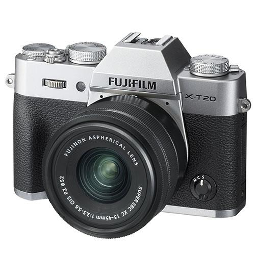 X-T20 Mirrorless Camera in Silver with XC 15-45mm f/3.5-5.6 OIS PZ Lens Product Image (Secondary Image 1)