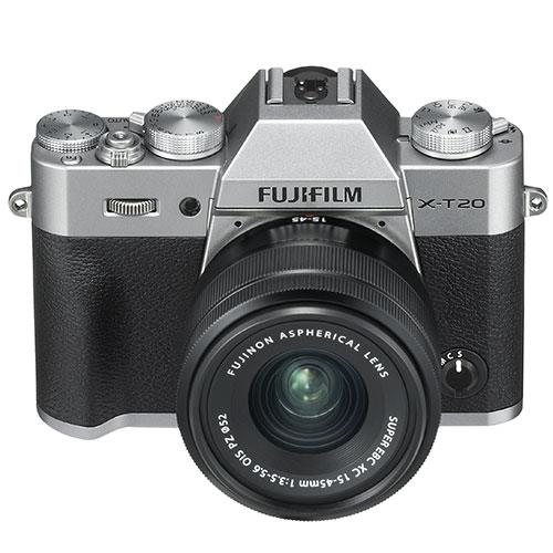 X-T20 Mirrorless Camera in Silver with XC 15-45mm f/3.5-5.6 OIS PZ Lens Product Image (Secondary Image 2)