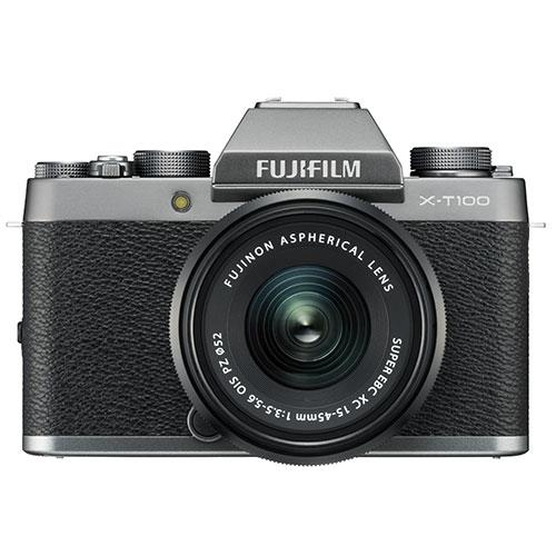 X-T100 Mirrorless Camera in Dark Silver + XC15-45mm lens Product Image (Secondary Image 1)