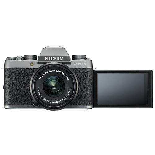 X-T100 Mirrorless Camera in Dark Silver + XC15-45mm lens Product Image (Secondary Image 4)