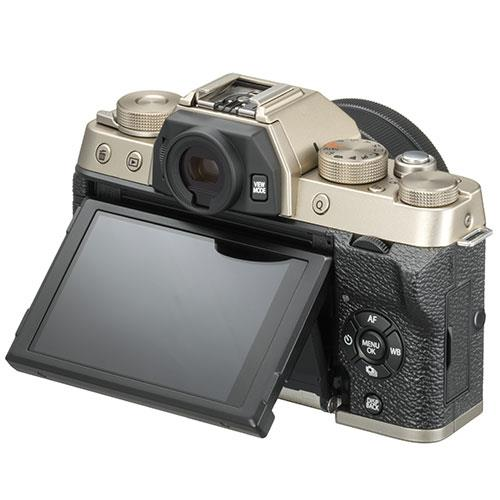 X-T100 Mirrorless Camera in Chanpagne Gold + XC15-45mm lens Product Image (Secondary Image 3)
