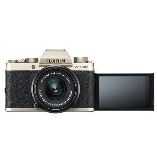 X-T100 Mirrorless Camera in Chanpagne Gold + XC15-45mm lens Product Image (Secondary Image 4)