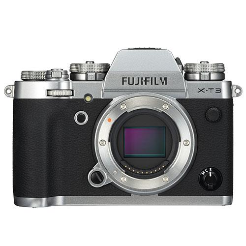 X-T3 Mirrorless Camera Body in Silver Product Image (Primary)