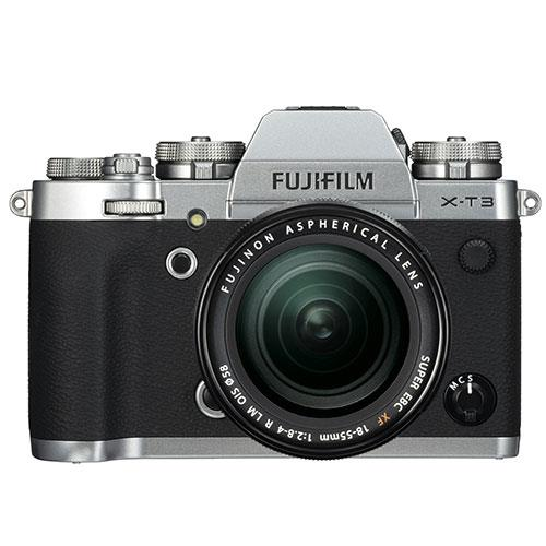 X-T3 Mirrorless Camera in Silver with XF18-55mm Lens Product Image (Primary)