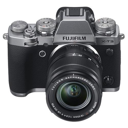 X-T3 Mirrorless Camera in Silver with XF18-55mm Lens Product Image (Secondary Image 1)