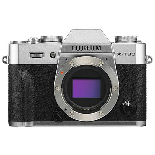 X-T30 Mirrorless Camera Body in Silver Product Image (Primary)