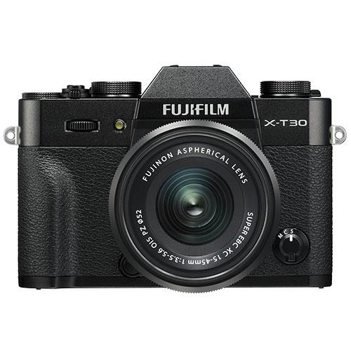 X-T30 Mirrorless Camera in Black with XC15-45mm  Lens Product Image (Primary)