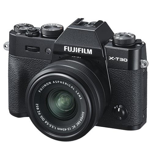 X-T30 Mirrorless Camera in Black with XC15-45mm  Lens Product Image (Secondary Image 1)