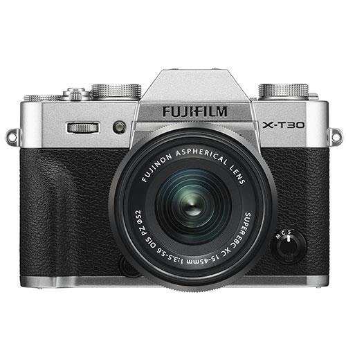 X-T30 Mirrorless Camera in Silver with XC15-45mm  Lens Product Image (Primary)