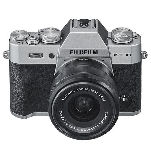 X-T30 Mirrorless Camera in Silver with XC15-45mm  Lens Product Image (Secondary Image 2)