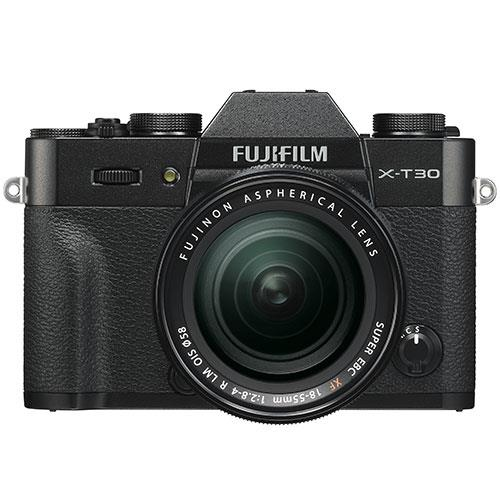 X-T30 Mirrorless Camera in Black with XF18-55mm Lens Product Image (Primary)