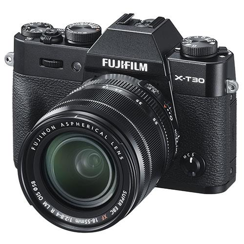 X-T30 Mirrorless Camera in Black with XF18-55mm Lens Product Image (Secondary Image 1)