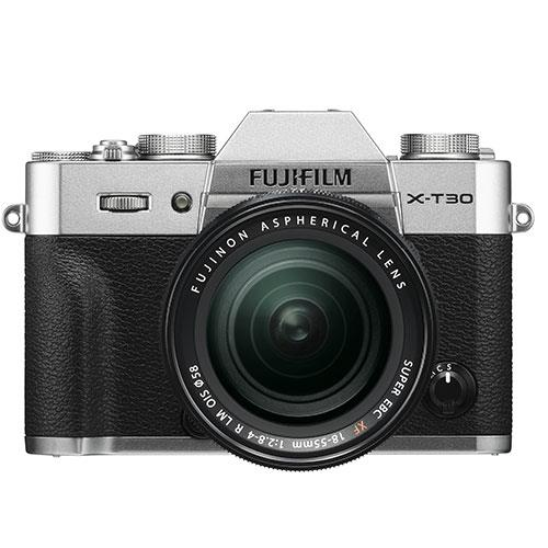 X-T30 Mirrorless Camera in Silver with XF18-55mm Lens Product Image (Primary)