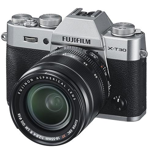 X-T30 Mirrorless Camera in Silver with XF18-55mm Lens Product Image (Secondary Image 1)
