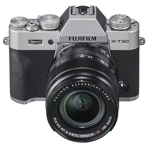 X-T30 Mirrorless Camera in Silver with XF18-55mm Lens Product Image (Secondary Image 2)