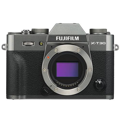 X-T30 Mirrorless Camera Body in Charcoal Product Image (Primary)