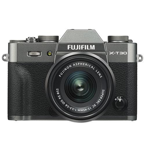 X-T30 Mirrorless Camera in Charcoal with XC15-45mm Lens Product Image (Primary)
