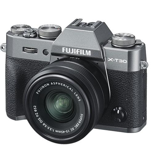 fujifilm x t30 mirrorless camera in charcoal with xc15 45mm lens jessops. Black Bedroom Furniture Sets. Home Design Ideas