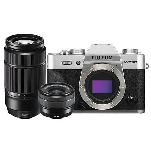 Fuji X-T30 Twin Lens Kit Slv Product Image (Secondary Image 5)