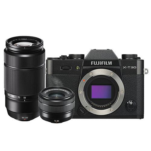 X-T30 Mirrorless Camera in Black with XC15-45mm and 50-230mm Lenses Product Image (Secondary Image 4)