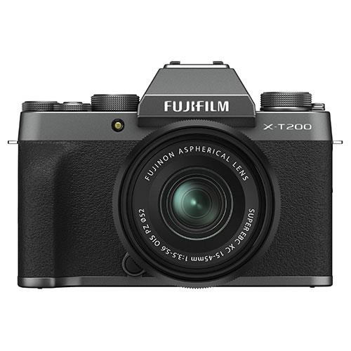 X-T200 in Dark Silver with Black XC15-45mm Lens   Product Image (Primary)