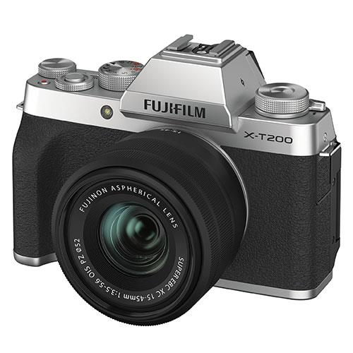 X-T200 in Silver with XC15-45mm Lens  Product Image (Secondary Image 1)