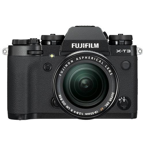 X-T3 Mirrorless Camera in Black with XF18-55mm Lens - Ex Display Product Image (Primary)