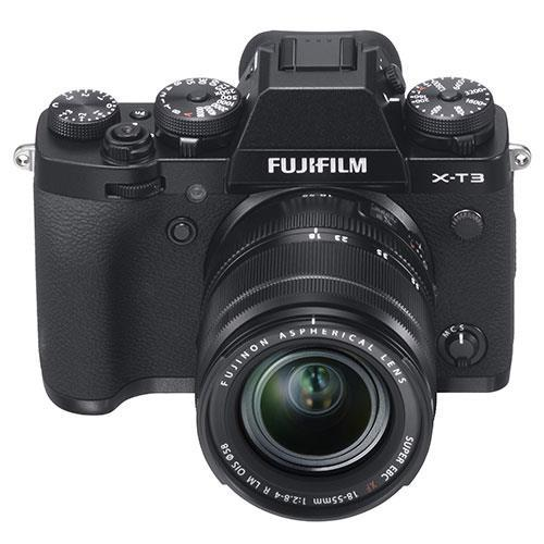 X-T3 Mirrorless Camera in Black with XF18-55mm Lens - Ex Display Product Image (Secondary Image 1)