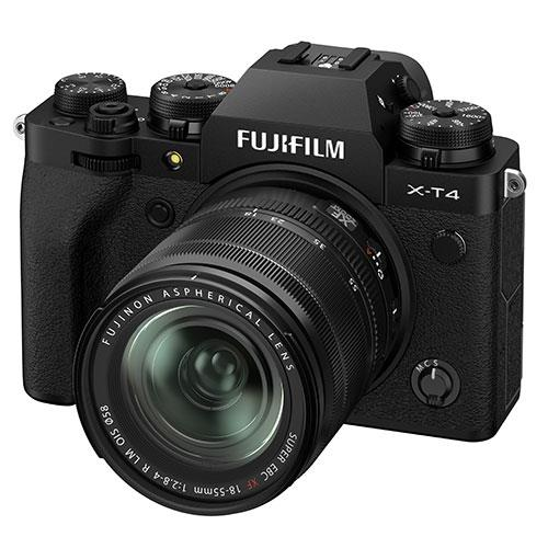 X-T4 Mirrorless Camera in Black with XF18-55mm Lens Product Image (Secondary Image 1)