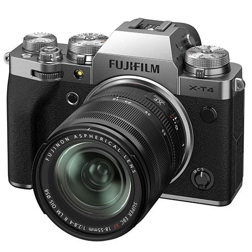 X-T4 Mirrorless Camera in Silver with XF18-55mm Lens Product Image (Secondary Image 2)