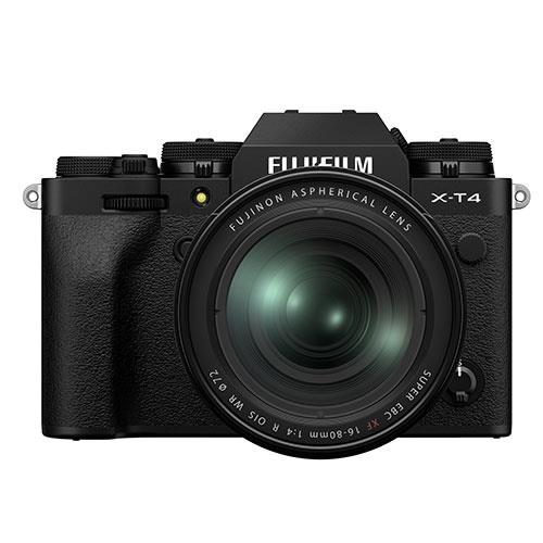 X-T4 Mirrorless Camera in Black with XF16-80mm Lens Product Image (Primary)