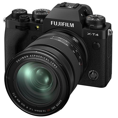 X-T4 Mirrorless Camera in Black with XF16-80mm Lens Product Image (Secondary Image 1)