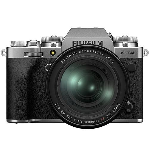 X-T4 Mirrorless Camera in Silver with XF16-80mm Lens Product Image (Primary)