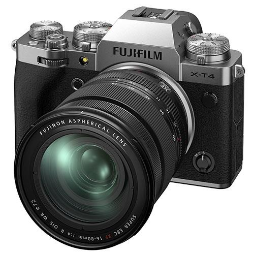 X-T4 Mirrorless Camera in Silver with XF16-80mm Lens Product Image (Secondary Image 2)