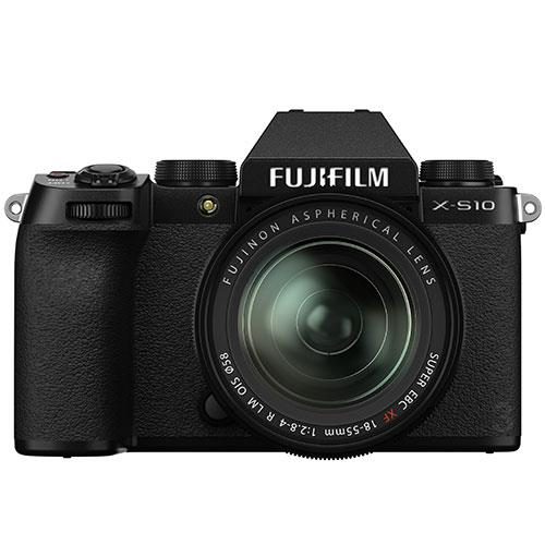 X-S10 Mirrorless Camera in Black with XF18-55mm Lens Product Image (Primary)