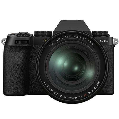 X-S10 Mirrorless Camera in Black with XF16-80mm Lens Product Image (Primary)