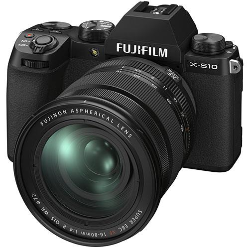 X-S10 Mirrorless Camera in Black with XF16-80mm Lens Product Image (Secondary Image 2)