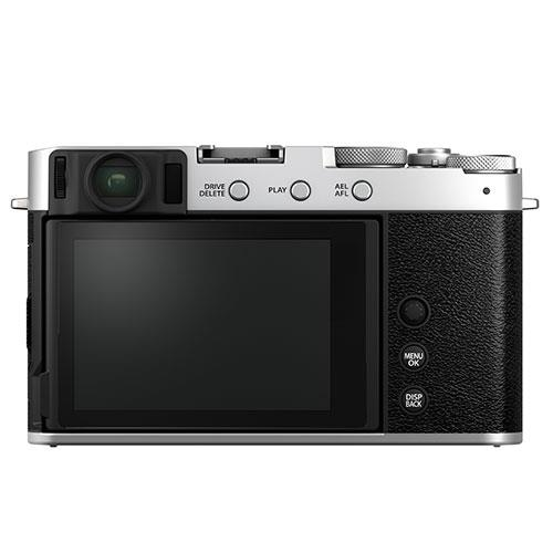 X-E4 Mirrorless Camera Body in Silver Product Image (Secondary Image 1)
