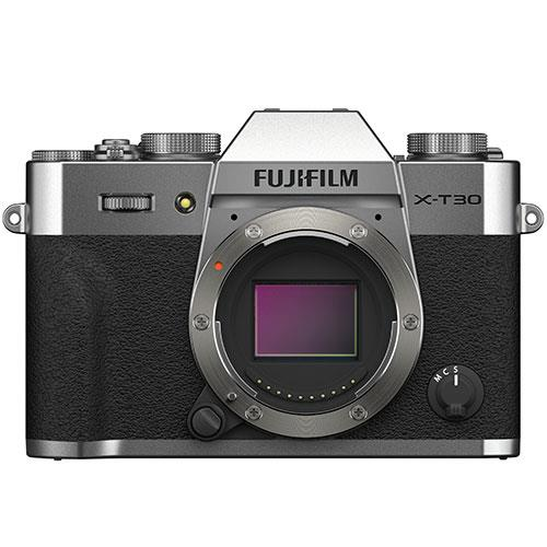 X-T30 II Mirrorless Camera Body in Silver Product Image (Primary)