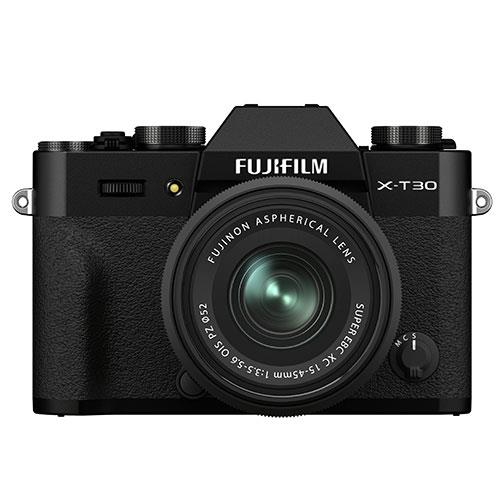 X-T30 II Mirrorless Camera in Black with XC15-45mm Lens Product Image (Primary)