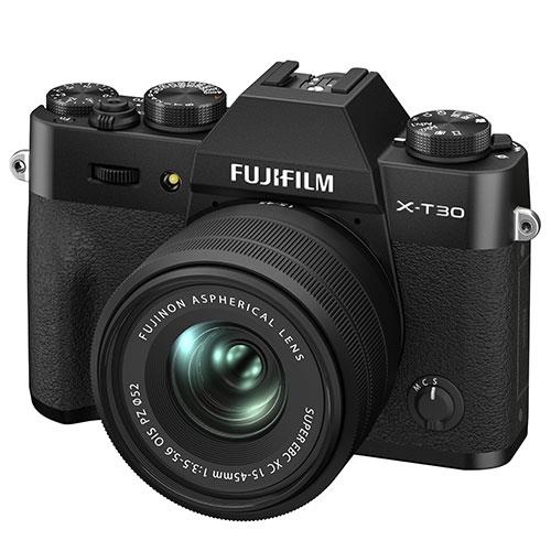 X-T30 II Mirrorless Camera in Black with XC15-45mm Lens Product Image (Secondary Image 1)