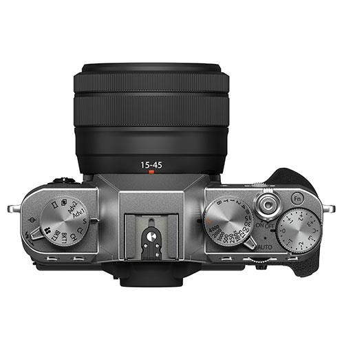 X-T30 II Mirrorless Camera in Siver with XC15-45mm Lens Product Image (Secondary Image 3)