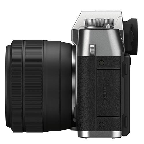 X-T30 II Mirrorless Camera in Siver with XC15-45mm Lens Product Image (Secondary Image 4)