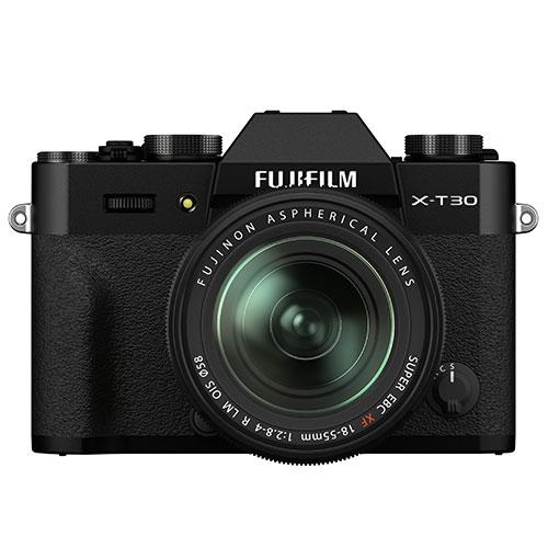 X-T30 II Mirrorless Camera in Black with XF18-55mm Lens Product Image (Primary)