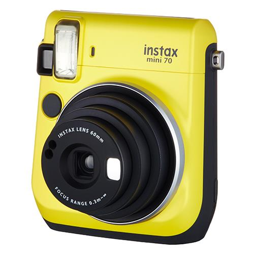 Instax Mini 70 in Yellow + 10 Shots Product Image (Primary)