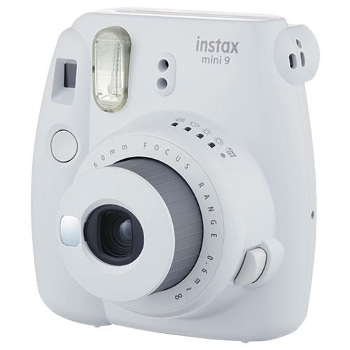 Instax Mini 9 Instant Camera in Smokey White + 10 Shots Product Image (Secondary Image 1)